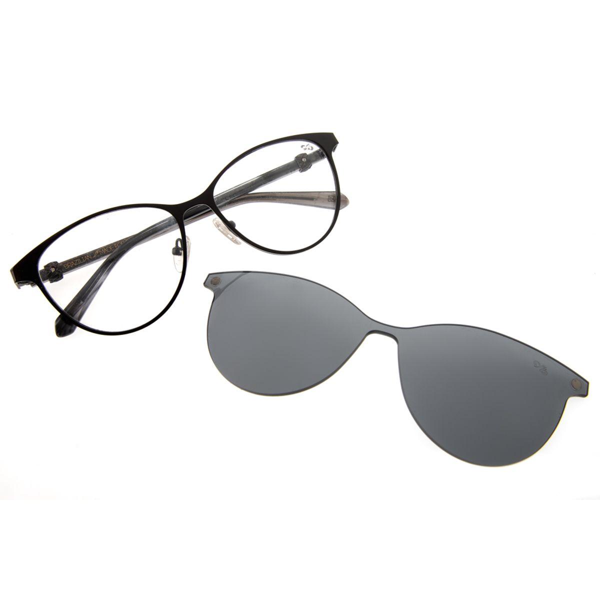 12e01cbab Armação para Óculos de Grau Feminino Chilli Beans BLK Multi 2 em 1 ...