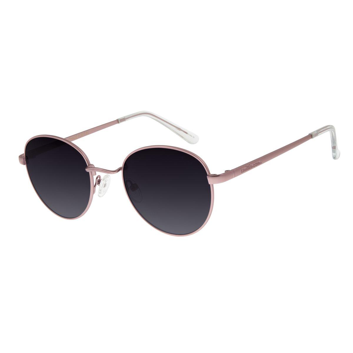 b9adccfc4 Óculos De Sol Chilli Beans Unissex Metal Redondo Rosé Degradê 2517 -  OC.MT.2517.2095 M. REF: OC.MT.2517.2095. OC.
