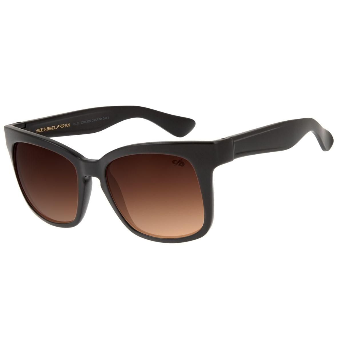69bbff5ff Óculos de Sol Feminino Chilli Beans Quadrado Marrom Degradê - Chilli ...