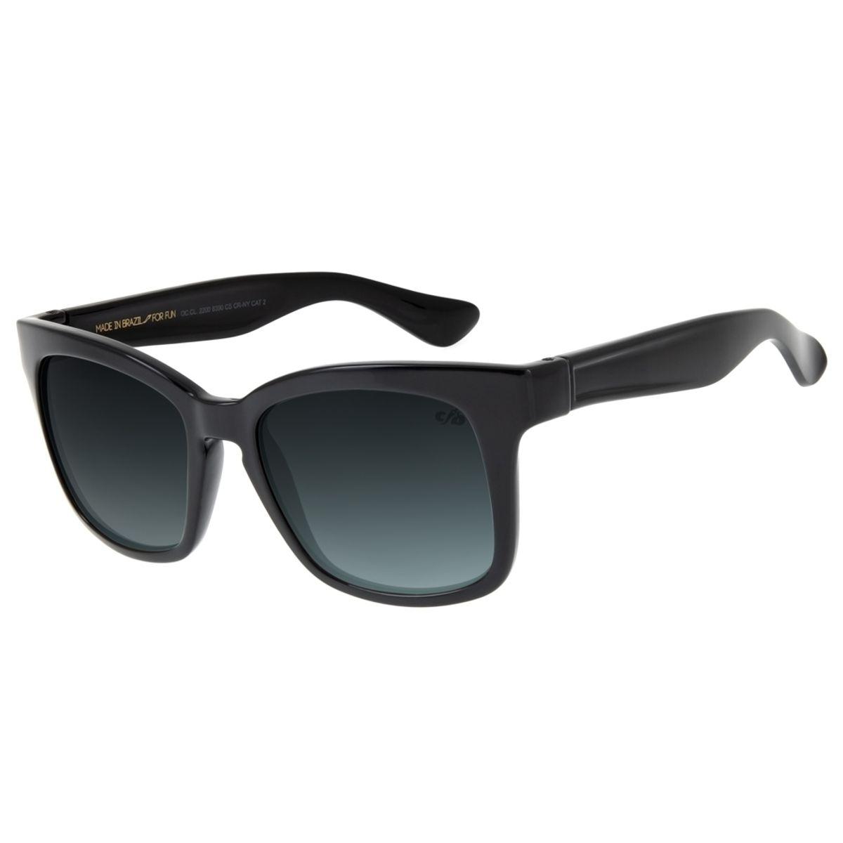 70f3696f0 Óculos de Sol Feminino Chilli Beans Quadrado Marrom Azul Escuro ...