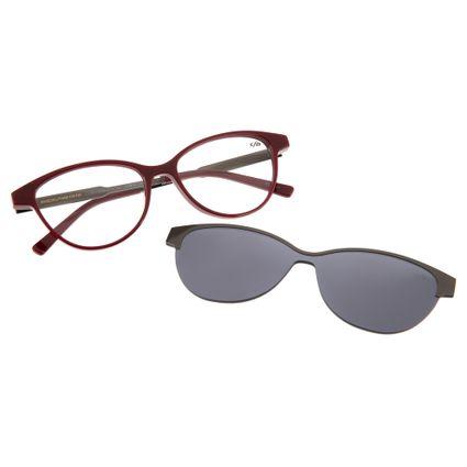 77cad6753 Armação para Óculos de Grau Chilli Beans Multi 2 em 1 Gatinho Vinho Detalhe  R$ 399,98 ou 4x de R$ 99,99 Ver detalhes