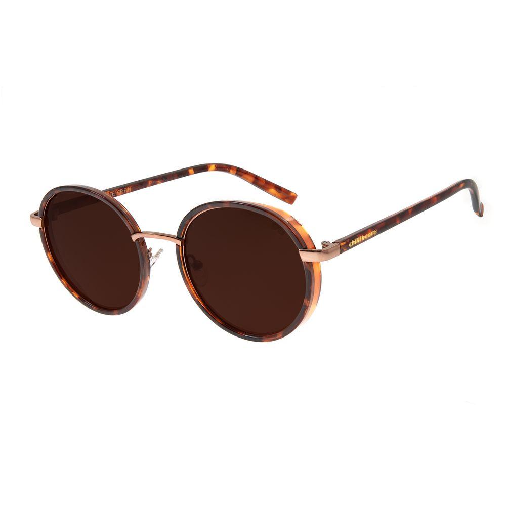 Óculos de Sol Feminino Chilli Beans Redondo Tartaruga Degradê OC.CL.2766-5706