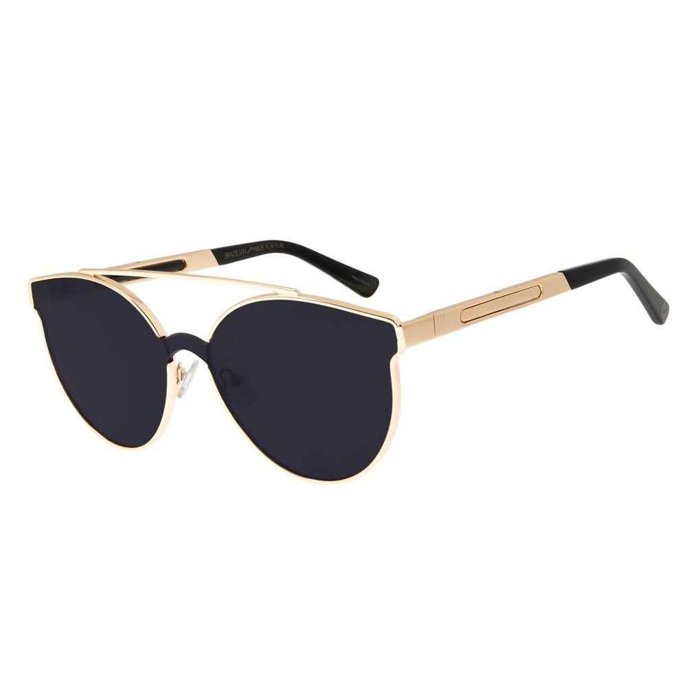 Óculos de Sol Feminino Chilli Beans 2 em 1 Flip Metal Dourado OC.MT.2650-0121