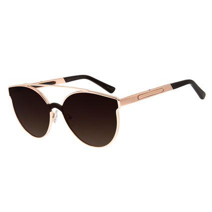 Óculos de Sol Unissex Chilli Beans 2 em 1 Flip Metal Rosê  OC.MT.2650-5795