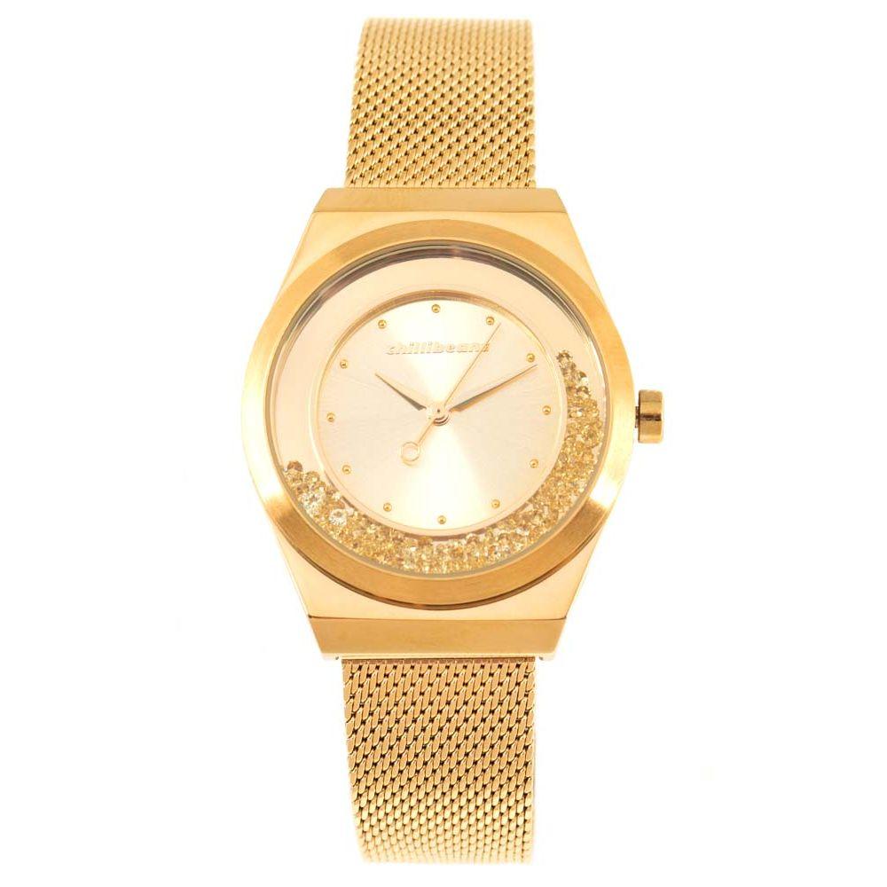 Relógio Analógico Feminino Chilli Beans 2 em 1 Click Pedras Dourado RE.MT.0847-2121