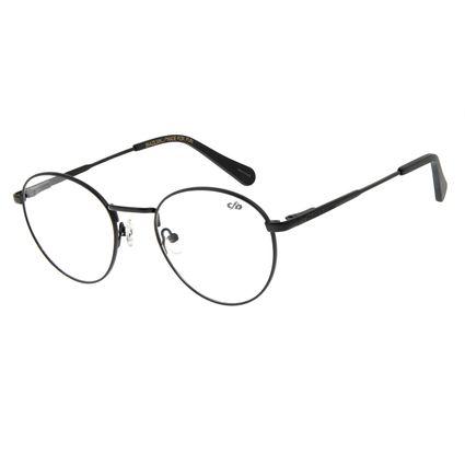 Armação Para Óculos De Grau Unissex Chilli Beans Redondo Metal Preto LV.MT.0328-0101
