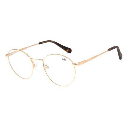 Armação Para Óculos De Grau Unissex Chilli Beans Redondo Metal Dourado LV.MT.0328-2121