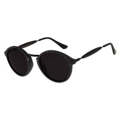 Óculos De Sol Chilli Beans Retrô Redondo Ônix Unissex OC.CL.1677-0138