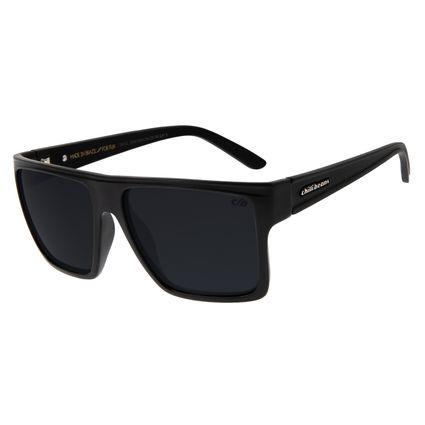 Óculos de Sol Unissex Chilli Beans Quadrado Preto Fosco OC.CL.2203-3804