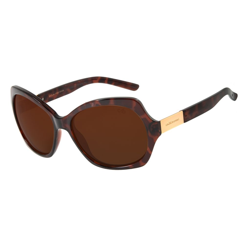 Óculos de Sol Feminino Chilli Beans Essential Polarizado Tartaruga OC.CL.2230-8806