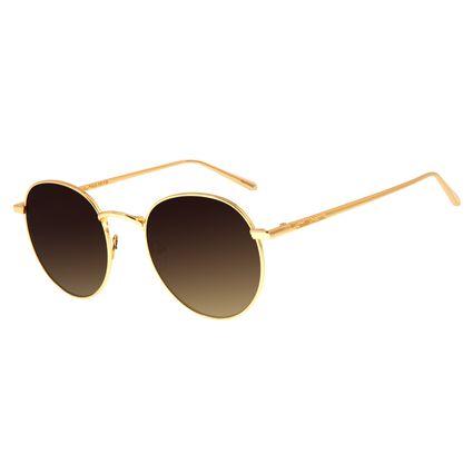 Óculos De Sol Unissex Chilli Beans Banhado A Ouro Dourado OC.MT.2590-5721-