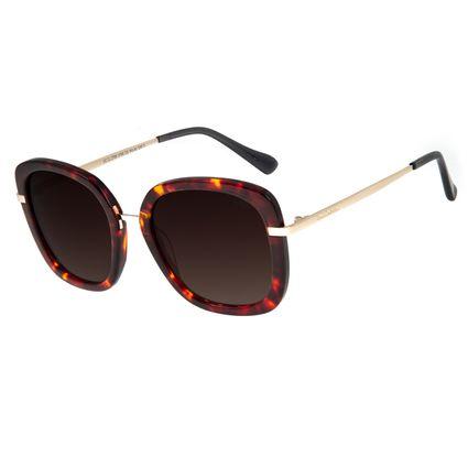 Óculos De Sol Feminino Chilli Beans Quadrado Tartaruga Polarizado OC.CL.2785-5706