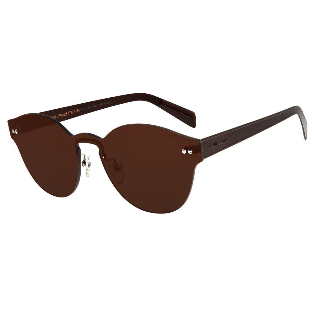 Óculos de Sol Feminino Chilli Beans Double Lenses Redondo Marrom Escuro OC.MT.2619-0247