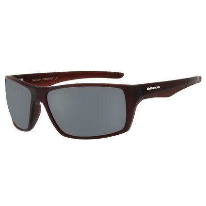Óculos De Sol Masculino Chilli Beans Performance Polarizado Marrom Escuro OC.ES.1186-0447