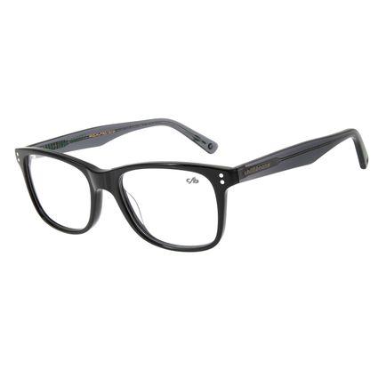 Armação Para Óculos de Grau Masculino Rock in Rio For All Preto LV.AC.0565-0101