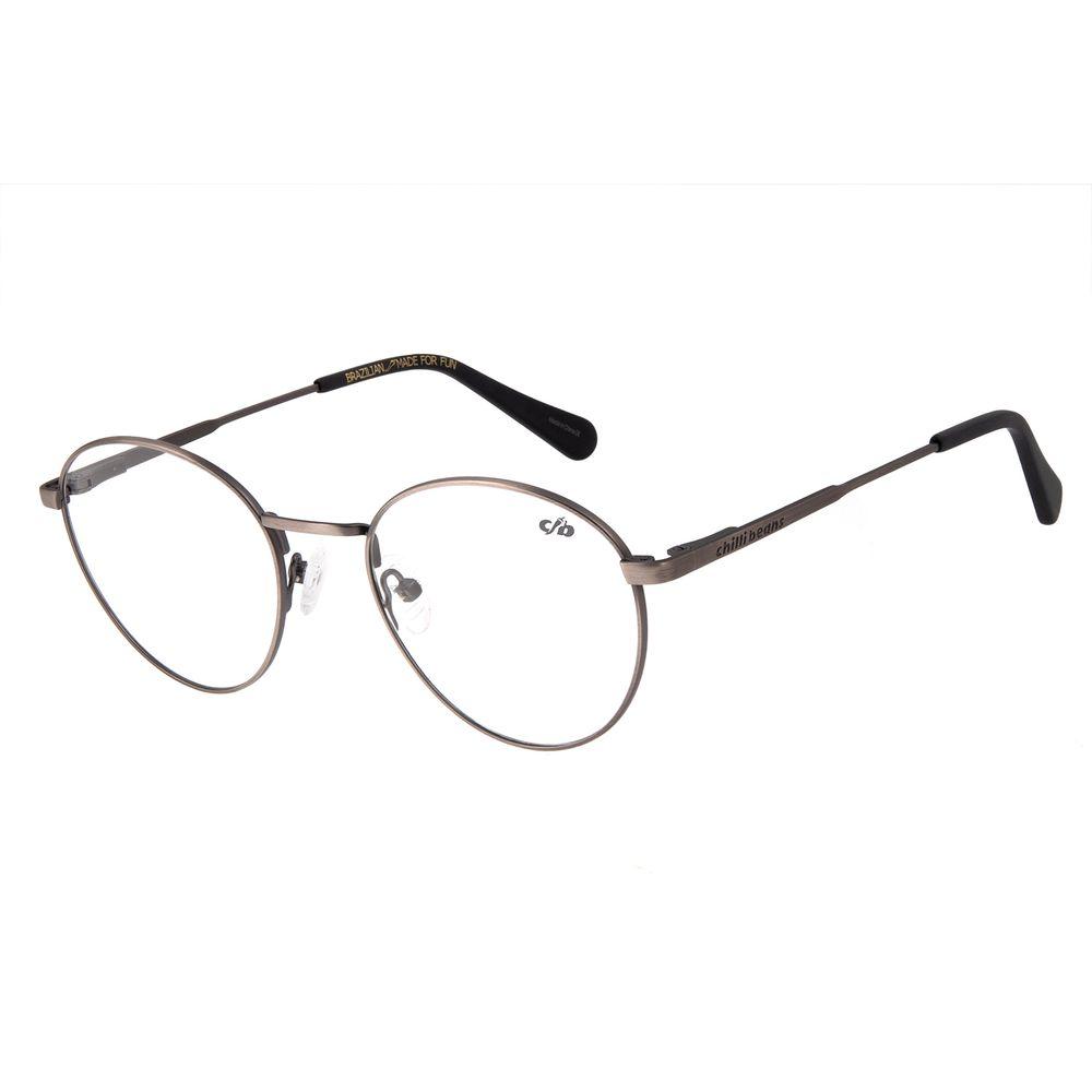Armação Para Óculos de Grau Unissex Chilli Beans Cinza Escuro LV.MT.0328-2828