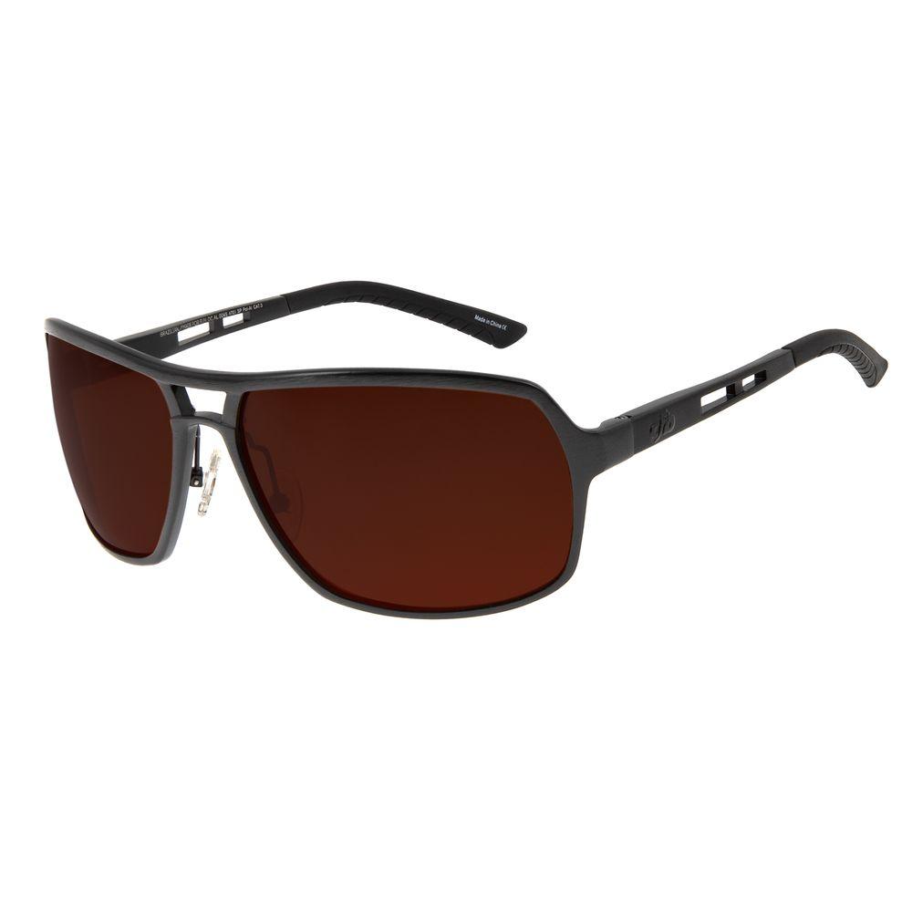 Óculos De Sol Masculino Chilli Beans Polarizado Marrom Escuro OC.AL.0045-4701