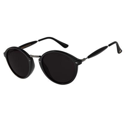 Óculos De Sol Unissex Chilli Beans Redondo Fumê OC.CL.1677-0105