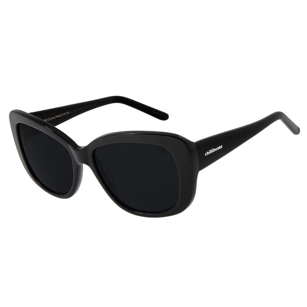 Óculos De Sol Feminino Chilli Beans Oversized Preto OC.CL.2776-0101
