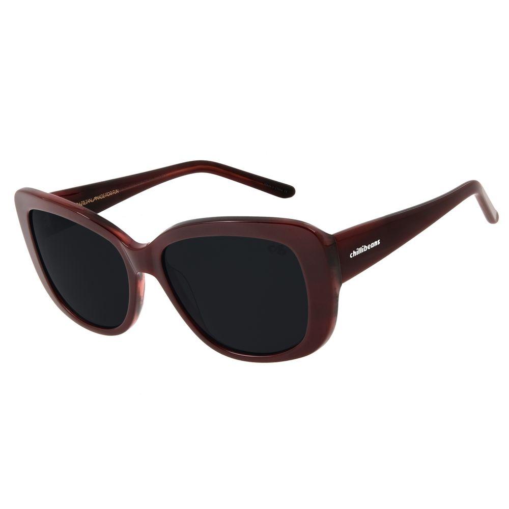 Óculos De Sol Feminino Chilli Beans Oversized Vermelho OC.CL.2776-0116