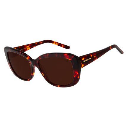Óculos De Sol Feminino Chilli Beans Oversized Tartaruga OC.CL.2776-0206