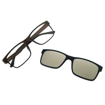Armação Para Óculos Grau Masculino Chilli Beans Multi Quadrado Cinza LV.MU.0137-0004