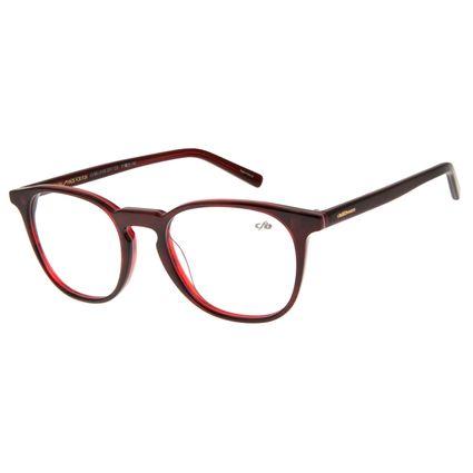 Armação Para Óculos Grau Unissex Chilli Beans Multi Redondo Vinho LV.MU.0155-2017