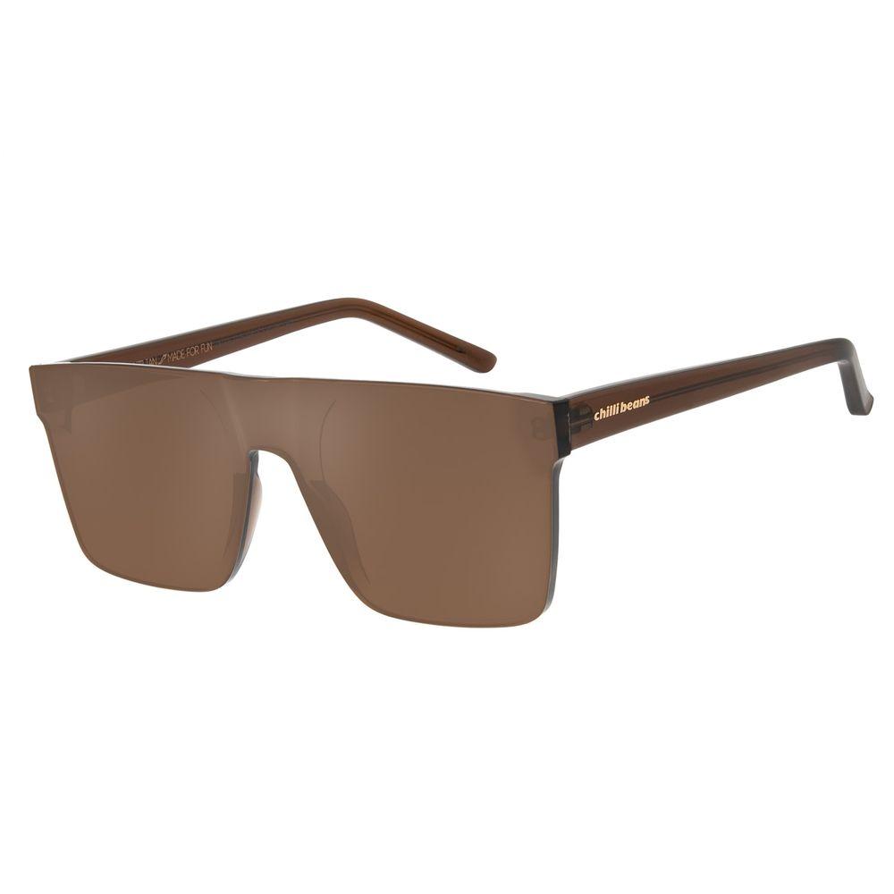 Óculos De Sol Unissex Block Quadrado Marrom OC.CL.2275-0202