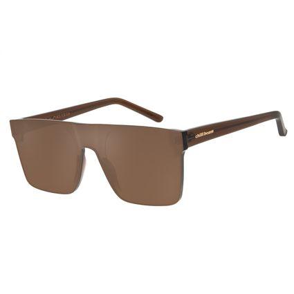 Óculos De Sol Unissex Chilli Beans Quadrado Marrom OC.CL.2275-0202