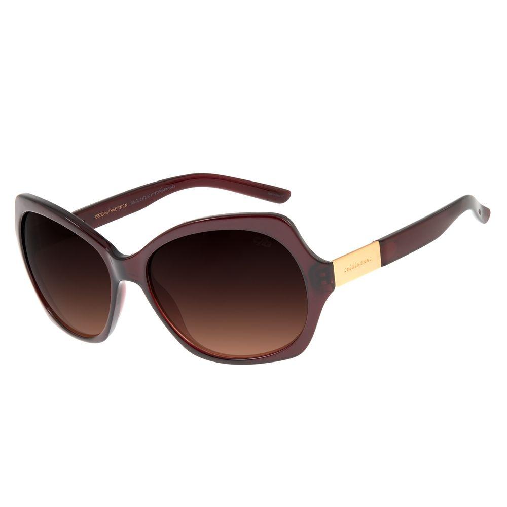 Óculos De Sol Feminino Chilli Beans Quadrado Essential Vinho OC.CL.2472-5717