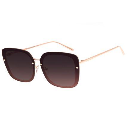Óculos De Sol Feminino Chilli Beans Quadrado Maxi Metal Degradê OC.MT.2665-2095