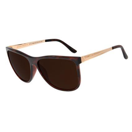 Óculos De Sol Feminino Chilli Beans Quadrado Marrom Escuro OC.CL.1836-4747