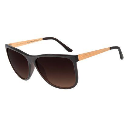 Óculos De Sol Feminino Chilli Beans Quadrado Marrom Polarizado Essential OC.CL.1836-5702