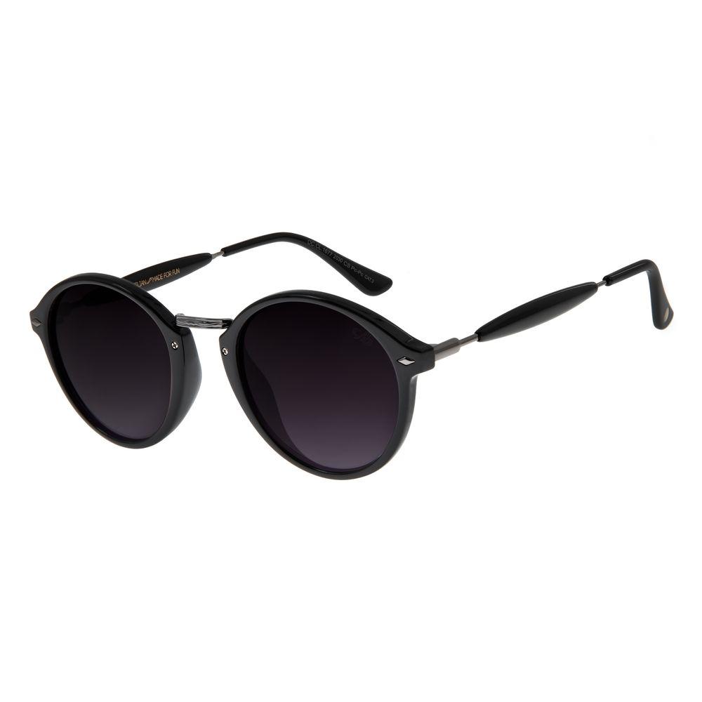 Óculos De Sol Unissex Chilli Beans Retrô Essential Redondo Brilho OC.CL.1677-2030