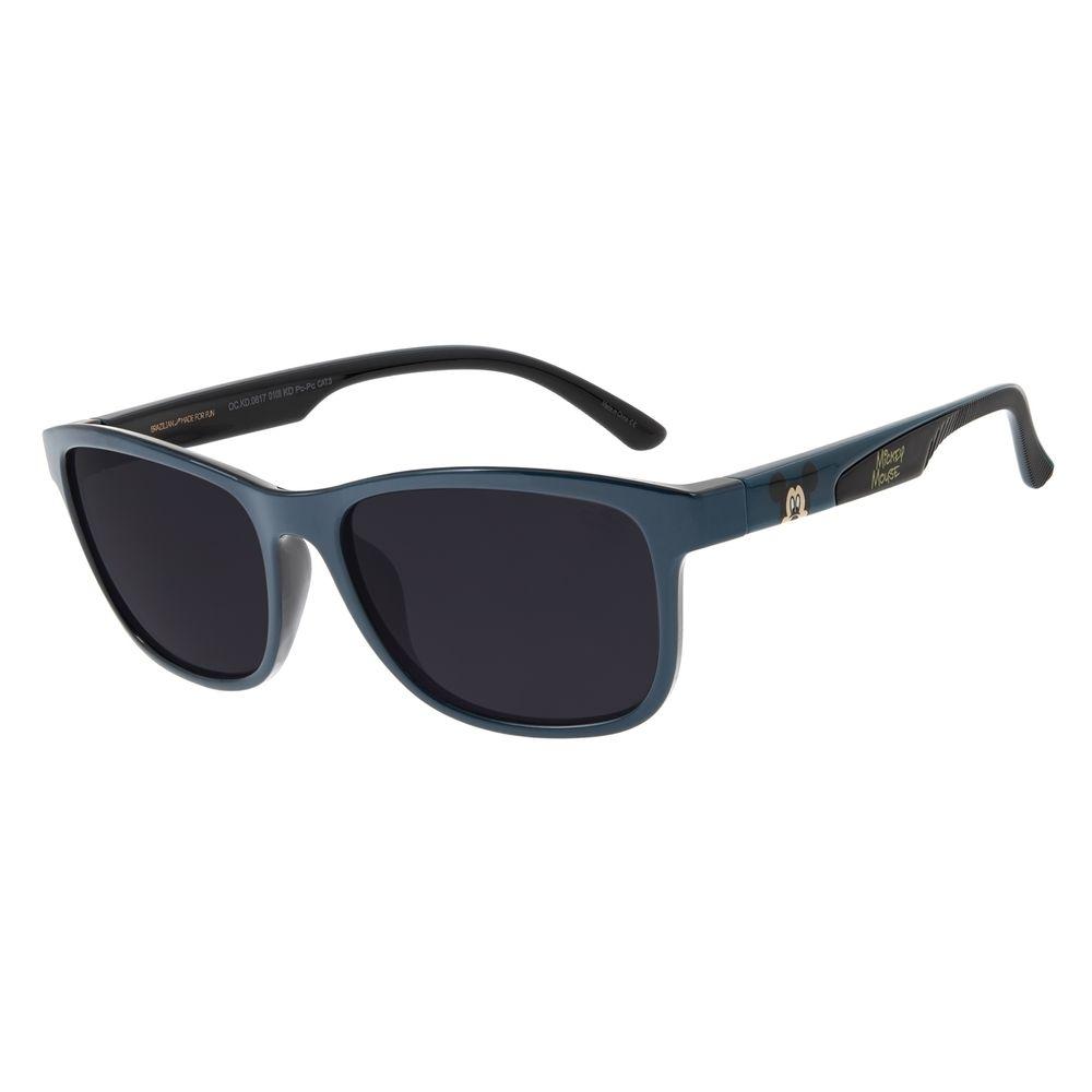 Óculos de Sol Infantil Mickey Mouse Quadrado Azul OC.KD.0617-0108