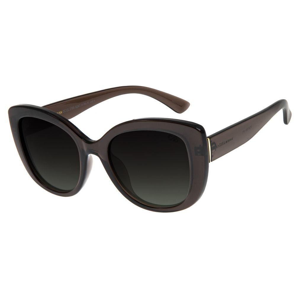 Óculos De Sol Feminino Chilli Beans Quadrado Marrom Escuro OC.CL.2788-8247