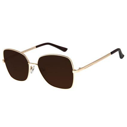 Óculos De Sol Feminino Chilli Beans Quadrado Dourado OC.MT.2661-0221