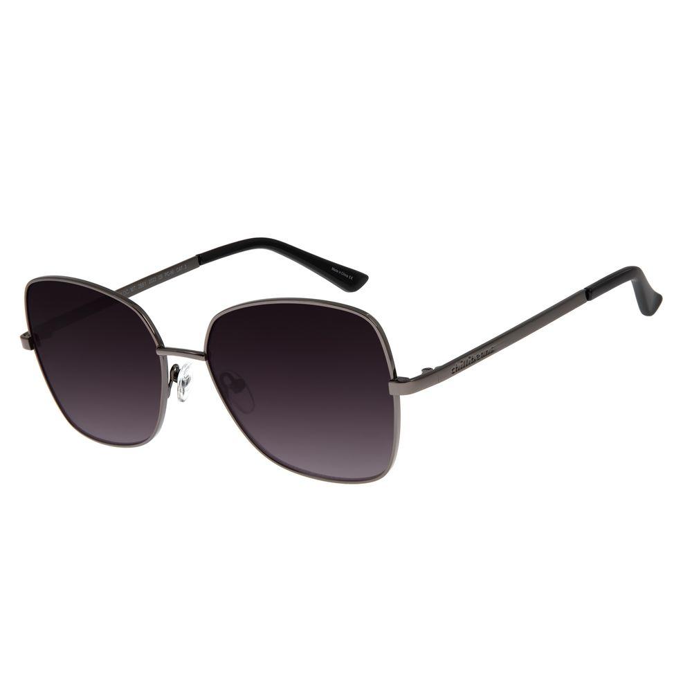 Óculos De Sol Feminino Chilli Beans Quadrado Ônix OC.MT.2661.2022