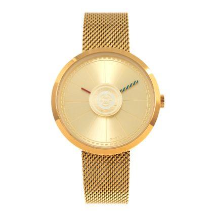Relógio Analógico Feminino Star Wars C-3PO Dourado RE.MT.0857-2121