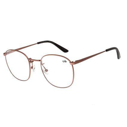Armação Para Óculos De Grau Unissex Chilli Beans Metal Caramelo LV.MT.0355-0303