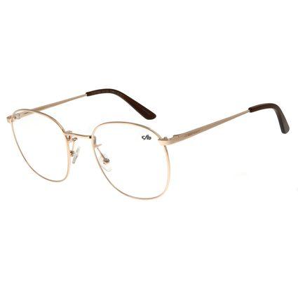 Armação Para Óculos De Grau Unissex Chilli Beans Metal Dourado LV.MT.0355-2121