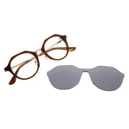 Armação Para Óculos De Grau Feminino Chilli Beans Multi Marrom LV.MU.0201-0402