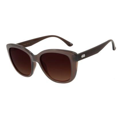Óculos De Sol Feminino Star Wars Sabre de Luz Degradê Marrom OC.CL.2839-5702