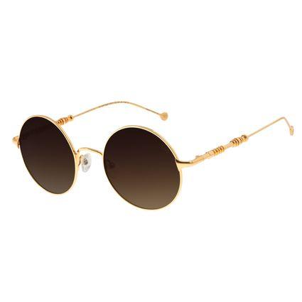 Óculos De Sol Unissex Star Wars C-3PO Banhado A Ouro Degradê Marrom OC.MT.2692-5721