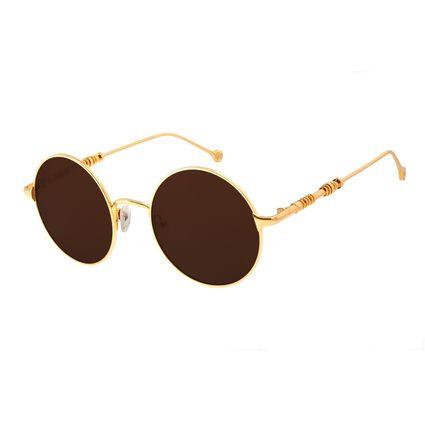 Óculos De Sol Unissex Star Wars C-3PO Dourado Banhado A Ouro OC.MT.2692-0221