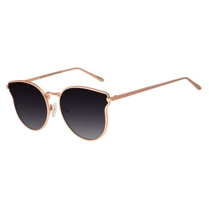 Óculos De Sol Feminino Chilli Beans Redondo Rosê  OC.MT.2641-0195