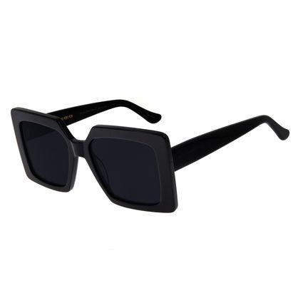 Óculos De Sol Feminino Chilli Beans Quadrado Oversized Cinza OC.CL.2754-0504