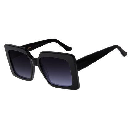 Óculos De Sol Feminino Chilli Beans Quadrado Oversized Preto OC.CL.2754-2001