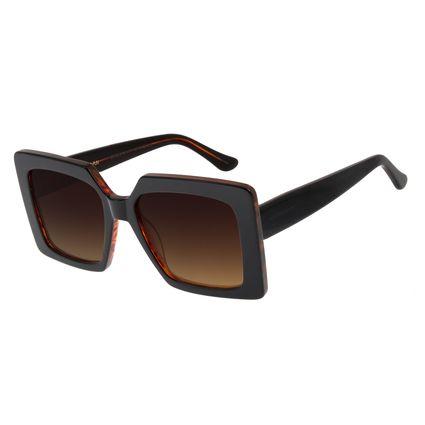Óculos De Sol Feminino Chilli Beans Quadrado Oversized Degradê Marrom OC.CL.2754-5701