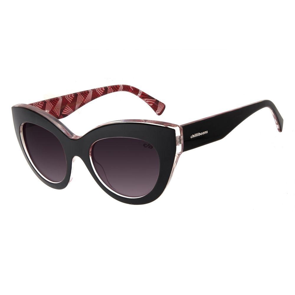 Óculos De Sol Feminino Chilli Beans Gatinho Preto OC.CL.2803-0501